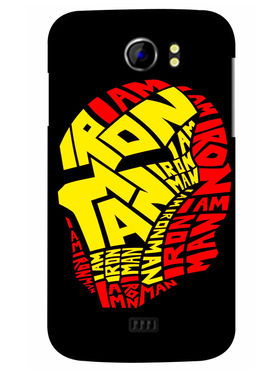 Snooky Designer Print Hard Back Case Cover For Micromax Canvas 2 A110 - Black