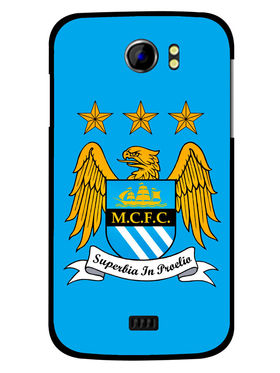 Snooky Designer Print Hard Back Case Cover For Micromax Canvas 2 A110 - Blue