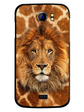 Snooky Designer Print Hard Back Case Cover For Micromax Canvas 2 A110 - Brown