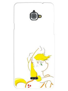 Snooky Designer Print Hard Back Case Cover For InFocus M530 - White