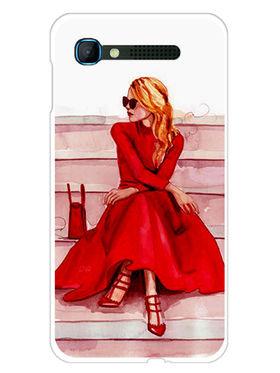 Snooky Designer Print Hard Back Case Cover For Intex Aqua Y2 pro - Red