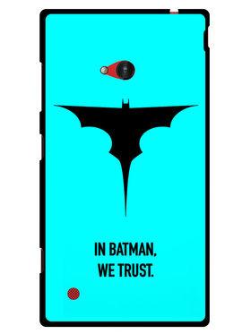 Snooky Designer Print Hard Back Case Cover For Nokia Lumia 720 - Sky Blue