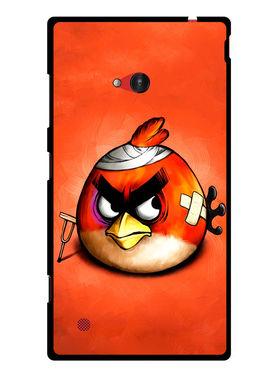 Snooky Designer Print Hard Back Case Cover For Nokia Lumia 720 - Orange