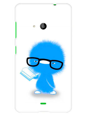 Snooky Designer Print Hard Back Case Cover For Microsoft Lumia 535 - Blue