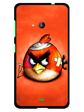 Snooky Designer Print Hard Back Case Cover For Microsoft Lumia 535 - Orange