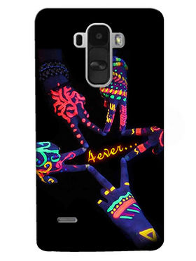 Snooky Digital Print Hard Back Case Cover For LG G4 Stylus - Black