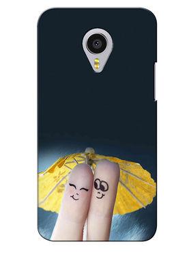 Snooky Digital Print Hard Back Case Cover For Meizu MX4 Pro - Grey