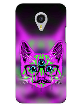Snooky Digital Print Hard Back Case Cover For Meizu MX4 Pro - Purple