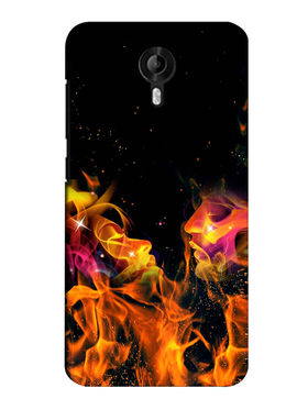 Snooky Digital Print Hard Back Case Cover For Micromax Canvas Nitro 3 E455 - Black