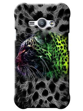 Snooky Digital Print Hard Back Case Cover For Samsung Galaxy J1 Ace - Grey