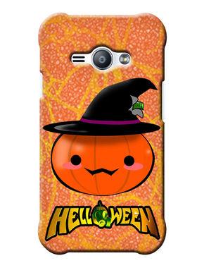 Snooky Digital Print Hard Back Case Cover For Samsung Galaxy J1 Ace - Orange