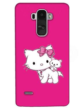 Snooky Digital Print Hard Back Case Cover For LG G4 Stylus - Pink