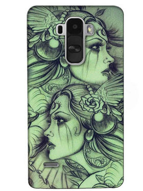 Snooky Digital Print Hard Back Case Cover For LG G4 Stylus - Green