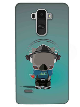 Snooky Digital Print Hard Back Case Cover For LG G4 Stylus - Golden