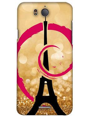 Snooky Digital Print Hard Back Case Cover For InFocus M530 - Golden