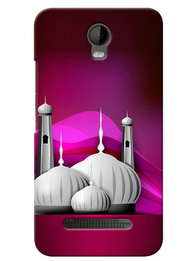 Snooky Digital Print Hard Back Case Cover For Micromax Bolt Q335 - Purple