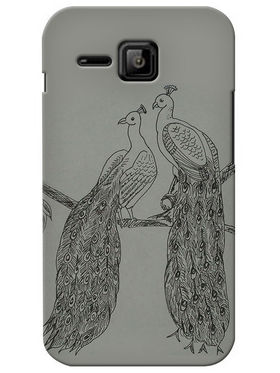 Snooky Digital Print Hard Back Case Cover For Micromax Bolt S301 - Grey