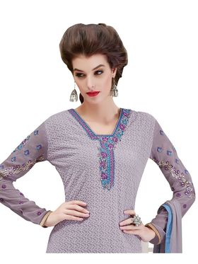 Viva N Diva Embroidered Georgette Semi Stitched Suit -vnd09