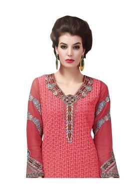 Viva N Diva Embroidered Georgette Semi Stitched Suit -vnd10