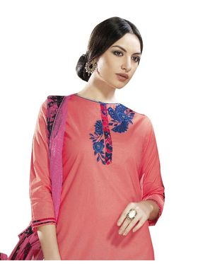 Viva N Diva Printed Satin Cotton Semi Stitched Suit -vnd13