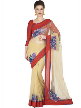 Designersareez Net Embroidered Saree -1839