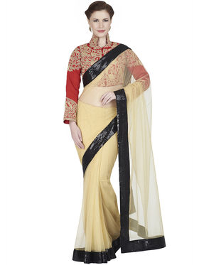 Designersareez Net Embroidered Saree -1888