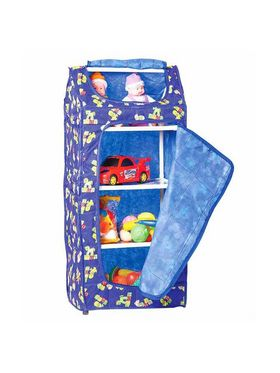 5 Shelves Folding Cupboard   Blue available at Naaptol for Rs.1299