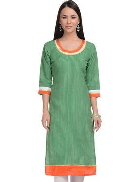 Lavennder Khadi Striped Kurti -623388