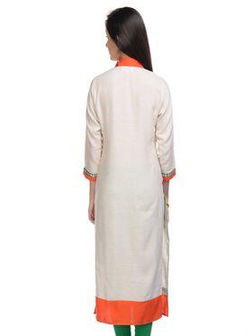 Lavennder Khadi Solid Kurti -623394