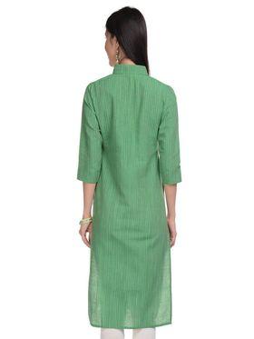 Lavennder Khadi Striped Kurti -623395