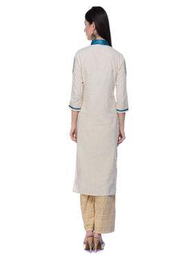 Lavennder Khadi Hand Blocked Kurti -623564