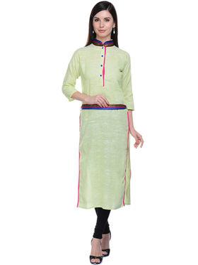 Lavennder Khadi Solid Kurti -623571