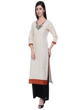Lavennder Khadi Solid Kurti -623573