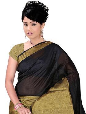 Adah Fashions Black South Silk Saree -888-108