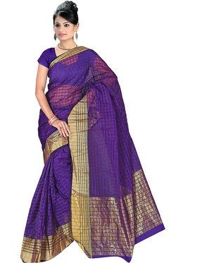Adah Fashions Dark Blue South Silk Saree -888-124