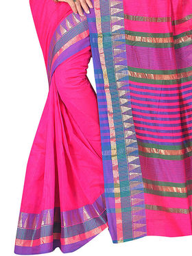 Adah Fashions Pink South Silk Saree -888-137