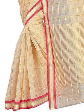 Adah Fashions Beige South Silk Saree -888-138