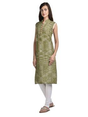 Lavennder Khadi Solid Kurti -96201246