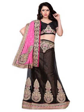 Khushali Fashion Embroidered Lehenga Saree_ASFTHA103