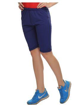 Clovia Polyamide  Spandex Solid Shorts -AT0018P08