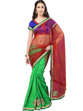 Pack of 3 Admyrin Printed Georgette Net & Bhagalpuri Silk Saree -CMB2
