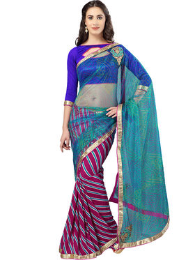 Pack of 3 Admyrin Printed Georgette Net & Bhagalpuri Silk Saree -CMB3