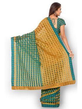 Admyrin Kota Check Saree with Brocade Blouse Piece-ays01