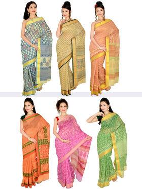 Aanchal Set of 6 Gadwal Sarees (6GD1)