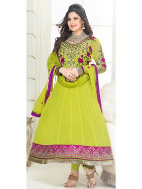 Adah Fashions Designer Georgette Semi-Stitched Suit - Green