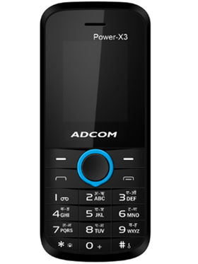 Adcom X3 Power Dual Sim Mobile - Black & Blue