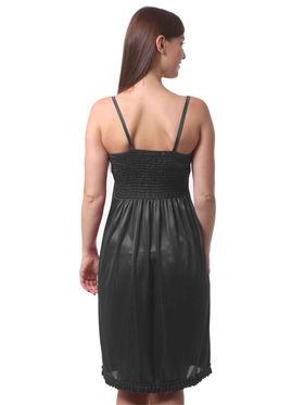 Set Of 2 Being Fab Satin Lycra Solid Nightwear -fbl02