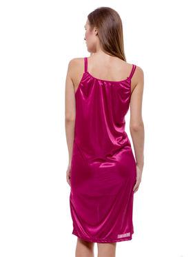 Set Of 2 Being Fab Satin Lycra Solid Nightwear -fbl04