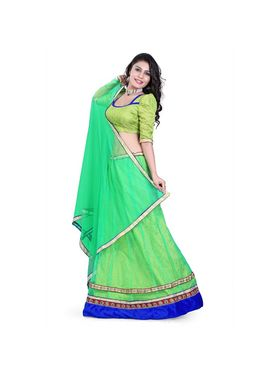 Styles Closet Designer Net & Brocked Semi Stitched Lehenga Choli -Bnd-Hl5