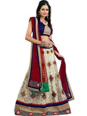 Styles Closet Designer Net Semi Stitched Lehenga Choli -Bnd-Pc5001